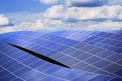 Powerlpant sol- energi Arkivfoto