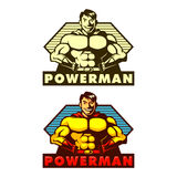Powerman-Maskottchen Lizenzfreies Stockbild