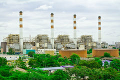 Powerplant. The powerplant by water power at bangprakong Thailand royalty free stock photo