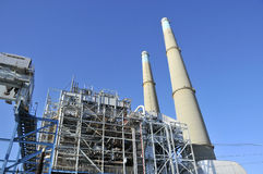Powerplant Producing Electricity. In Monterey Bay, California stock photography