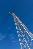Powerplant pylon Royalty Free Stock Image