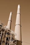Powerplant Stacks Royalty Free Stock Photo