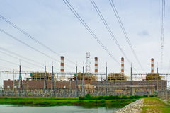 Powerplant. The powerplant by water power at bangprakong Thailand stock photos