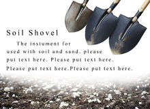 Powerpoint background soil shovel and soil Stock Photos