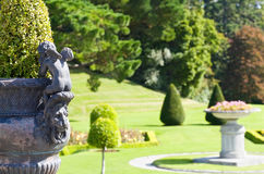 Powerscourt Mansion - Italian Gardens Stock Images