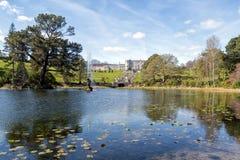 Powerscourt ogródy i dom Zdjęcie Royalty Free