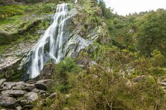 Powerscourt waterfall Stock Photo