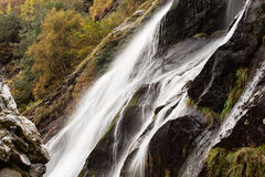 Powerscourtwaterval, Wicklow, Ierland Stock Foto