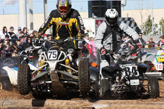 Powersports Event 2. The Toronto International Snowmobile, ATV & Powersports Show  at International Centre in Ontario, Canada.   Racers participated for the free Stock Images