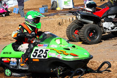 Powersports Mini Event 2. Toronto, Ontario, Canada October 17, 2009 - Children participated at the free Mini Event  race at the Toronto International Snowmobile Stock Photo
