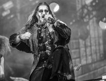 Powerwolf ζωντανό στη συναυλία 2017 Attila Dorn Στοκ εικόνα με δικαίωμα ελεύθερης χρήσης