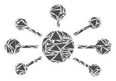 Powiązanie Łączy mozaikę trójboki ilustracja wektor