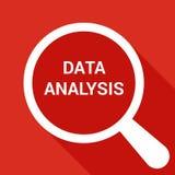Powiększać Okulistycznego szkło Z słowo dane analizą ilustracji