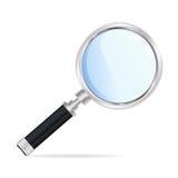 Powiększać - szkło Zdjęcia Stock