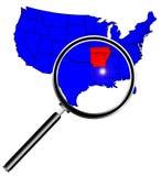 Powiększać - szkło Nad Arkansas Zdjęcie Royalty Free