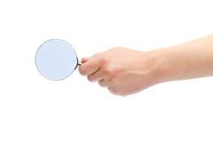 Powiększać - szkło w ręce Obraz Royalty Free