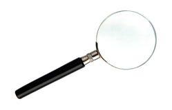 Powiększać - szkło z jeden obiektywem obraz stock