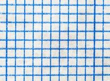 Powiększać szkotowy biały papier w kwadraty Obraz Stock