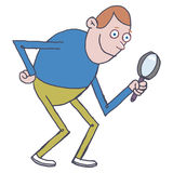 powiększenie człowiek szkło ilustracja wektor