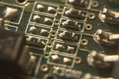 Powiększenie mikro elektroniczni składniki zdjęcia stock