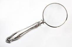 powiększenie szkła srebra obraz stock