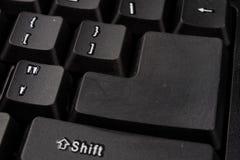 Powiększona komputerowa klawiatura Czarni klawiatura guziki dla co Zdjęcie Royalty Free