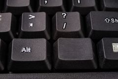 Powiększona komputerowa klawiatura Czarni klawiatura guziki dla co Fotografia Royalty Free