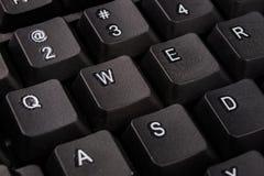 Powiększona komputerowa klawiatura Czarni klawiatura guziki dla co Obrazy Royalty Free