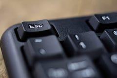 Powiększona komputerowa klawiatura Czarni klawiatura guziki dla co Zdjęcia Royalty Free