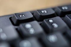 Powiększona komputerowa klawiatura Czarni klawiatura guziki dla co Fotografia Stock