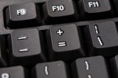 Powiększona komputerowa klawiatura Czarni klawiatura guziki dla co Zdjęcie Stock