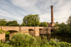 Powick Bridge. Powicks fame is that a battle during the English civil war was fought here in September 1642. It was the first major cavalry engagement of the Stock Photography