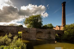 Powick Bridge. Powicks fame is that a battle during the English civil war was fought here in September 1642. It was the first major cavalry engagement of the Royalty Free Stock Photography
