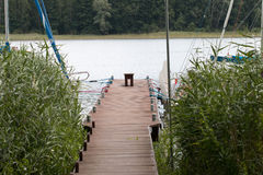 Powidz湖 免版税库存照片