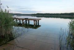 Powidz湖 免版税库存图片