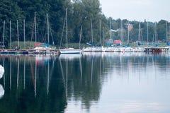 Powidz湖 库存图片
