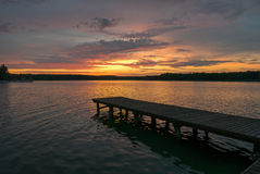 Powidz湖 图库摄影