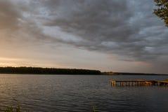 Powidz sjö Royaltyfri Fotografi