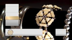 Powieściowa Domowego zakupy biżuterii Telewizyjna Złocista zawartość zbiory wideo