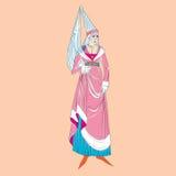 Powieściowa kostiumowa kobieta ilustracji
