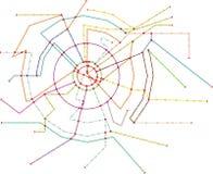 Powieściowa metro mapa, jawny transport, mapa, bezpłatnej kopii spac Obrazy Stock