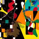Powieściowy grafiki sztuki współczesnej styl ilustracji