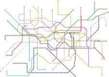 Powieściowa metro mapa, jawnego transportu mapa Fotografia Royalty Free
