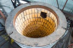 Powie dla pyrolysis, przerobu i usuwania stare opony, Przemysłowa fotografia Obrazy Stock