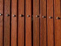 Powierzchnia Drewniany Lath Puka głowy fotografia stock