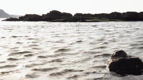 Powierzchnia morze w zatoce zdjęcie wideo
