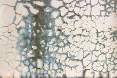 Powierzchnia ośniedziały żelazo z szczątkami stara farba, odłupana farba, tekstury tło Zdjęcie Stock