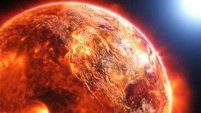 Powierzchnia słońce Zdjęcia Royalty Free