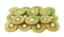 Powierzchnia zakrywająca z kiwifruit plasterkami Obrazy Royalty Free