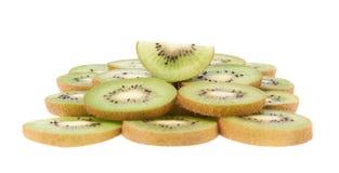 Powierzchnia zakrywająca z kiwifruit plasterkami Zdjęcie Stock